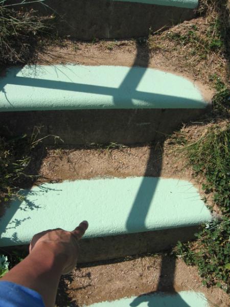 島根県大東保育園 階段 塗装後①